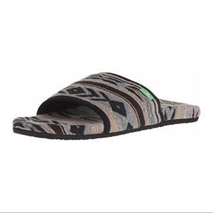 Sanuk Aztec Print Furreal Slide Sandal
